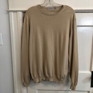 Men's Ermenegildo Zegna Beige Cotton Sweater